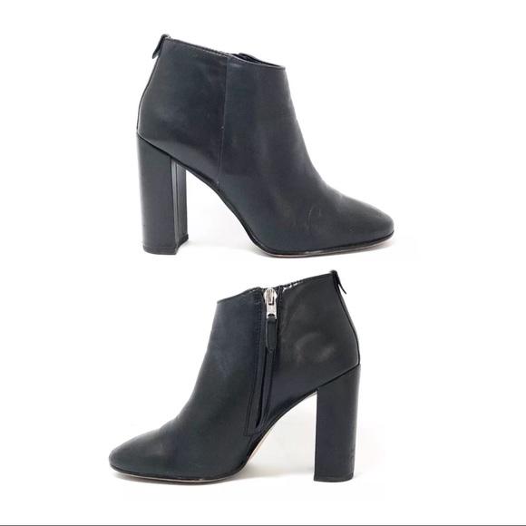 29fa48335ac4 Sam Edelman Black Leather Heeled Ankle Boots. M 5b79f777baebf6d17658ff8a